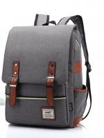 Back pack(กระเป๋าเป้ สะพายหลัง) BA045 สีเทาอ่อน พร้อมส่ง