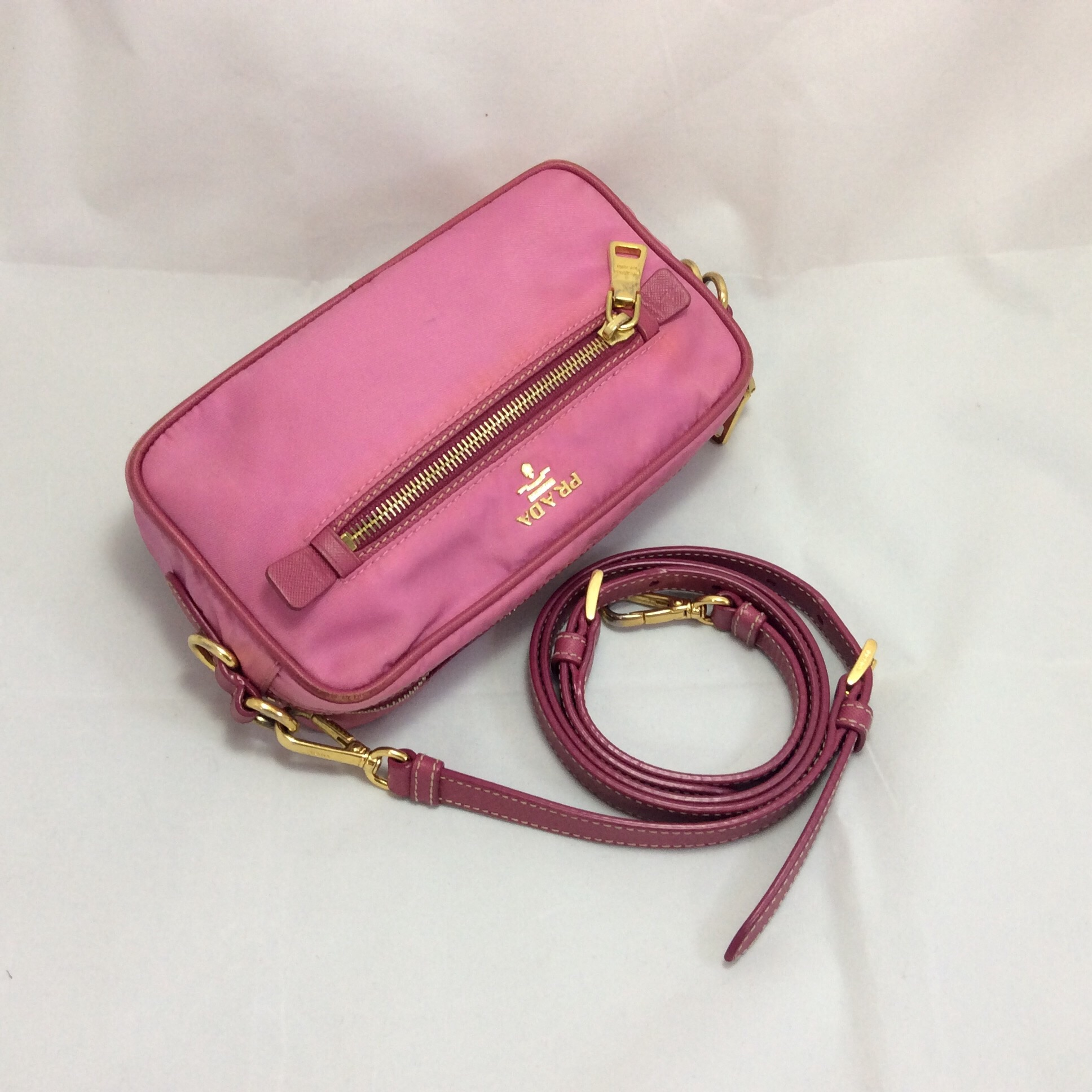 pink prada cross body bag