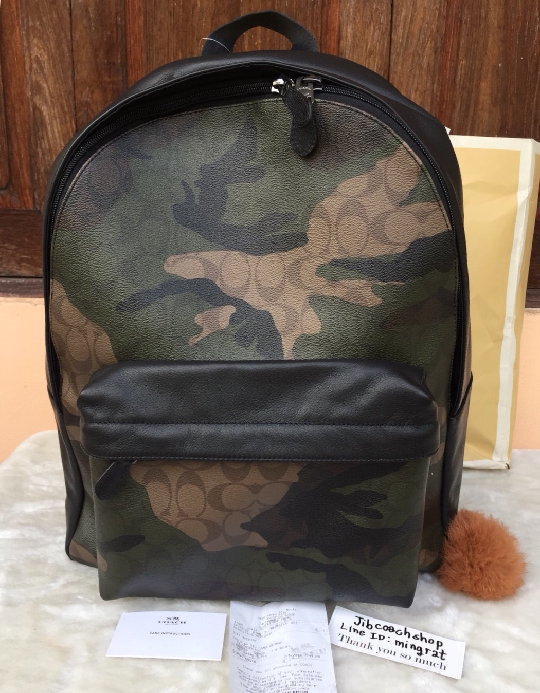 65a0389d0 coach 59914 CHARLES BACKPACK IN ANIMATED SIGNATURE CAMO PRINT COATED CANVAS