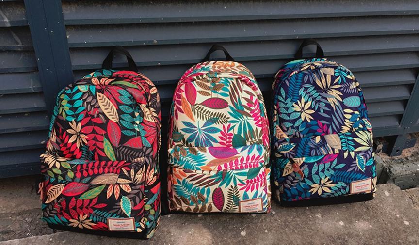 กระเป๋าเป้ Flower vintage rucksack