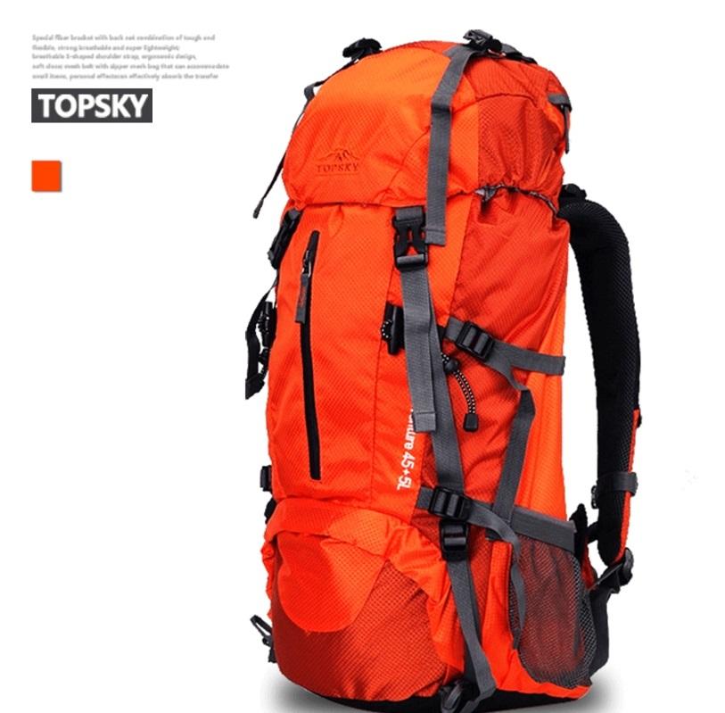 กระเป๋าเป้ Top sky deluxe edition 40/50/60 ลิตร (สีส้ม)