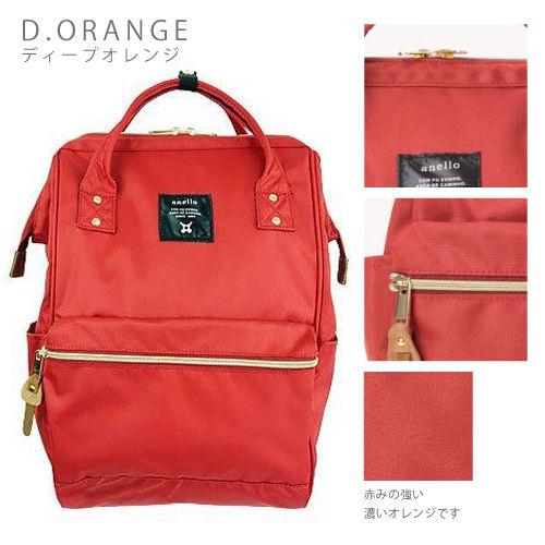 กระเป๋าเป้ Anello Canvas Dark Orange (Standard) ผ้าโพลีเอสเตอร์แคนวาสกันน้ำ