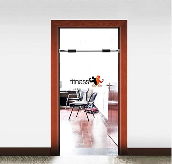 ภาพการติดตั้งบาร์โหนติดประตู