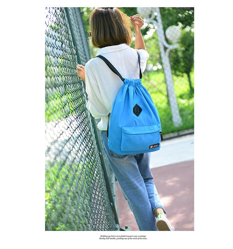 Bunny Drawstring bag (สีฟ้า)
