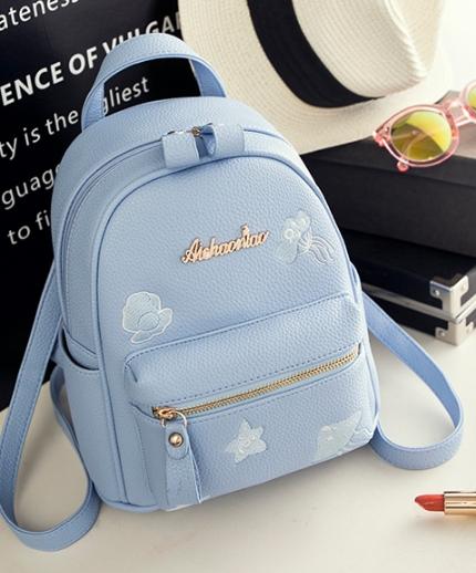 กระเป๋าเป้ผู้หญิง Flora bag สีฟ้า