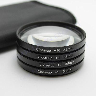 Filter Close UP +1 +2 +4 +10 Set 58 mm