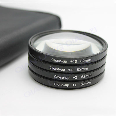 Filter Close UP +1 +2 +4 +10 Set 62 mm