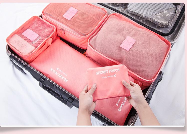traveling comfort Bag กระเป๋าจัดระเบียบ 6 ชิ้น