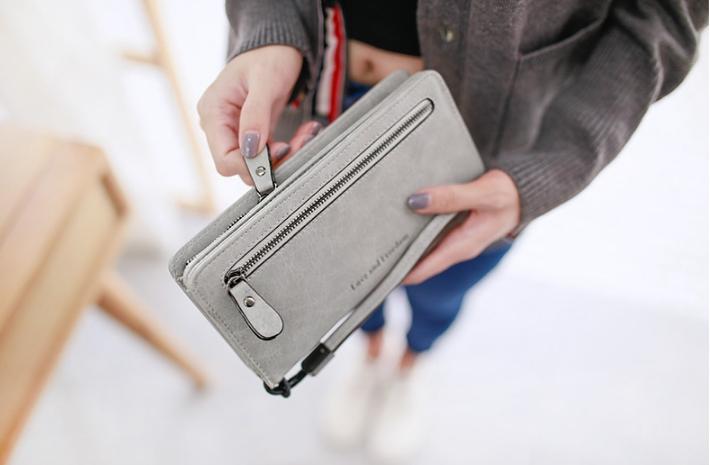 กระเป๋าสตางค์ผู้หญิง Crustal สี light gray