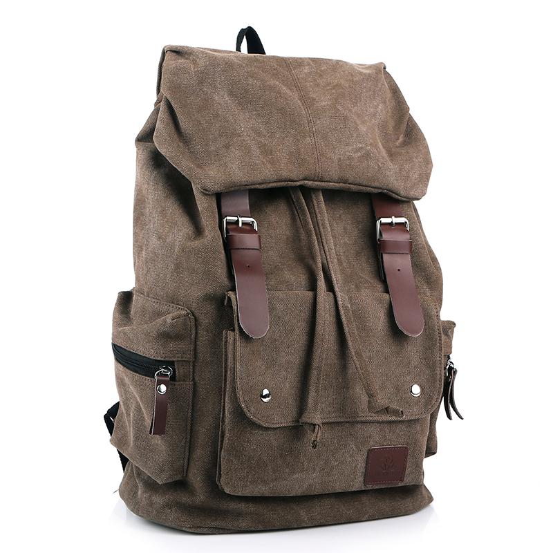 กระเป๋าเป้ Canvas Daypack สีน้ำตาล