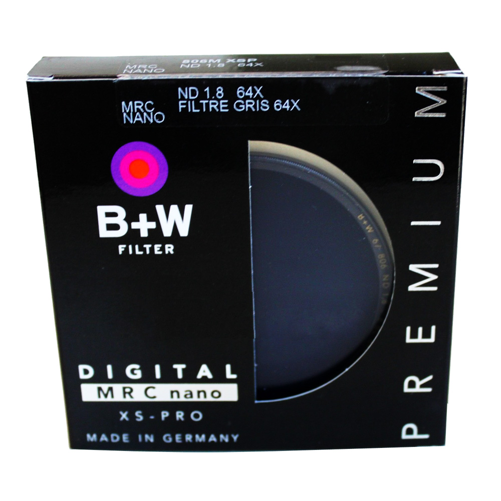 B+W 72 mm XS-Pro MRC Nano 806 Solid 1.8(64x) ND Filter Neutral Density