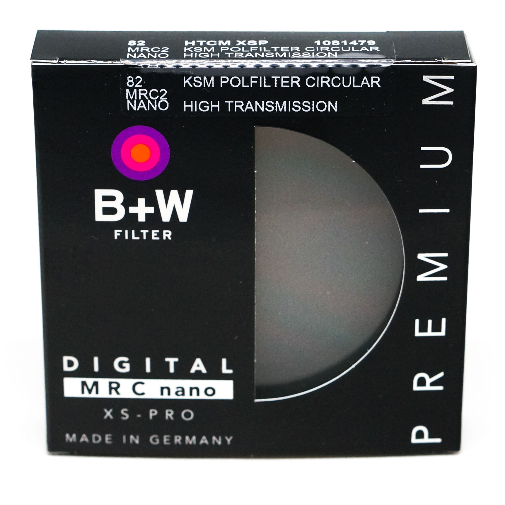 B+W 46 mm XS-PRO HTC KSM CPL Kaesemann High Transmission MRC Nano CPL Circular-POL Polarizer Filter