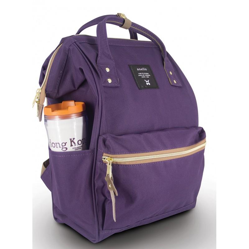 New!! กระเป๋าเป้ Anello Canvas Purple (Standard) สีม่วง