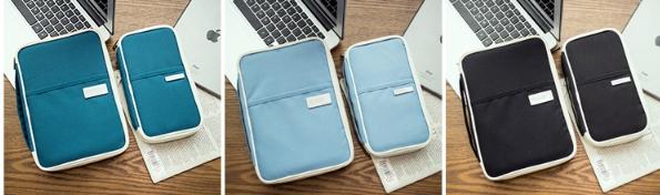 กระเป๋าใส่ Passport สีฟ้า