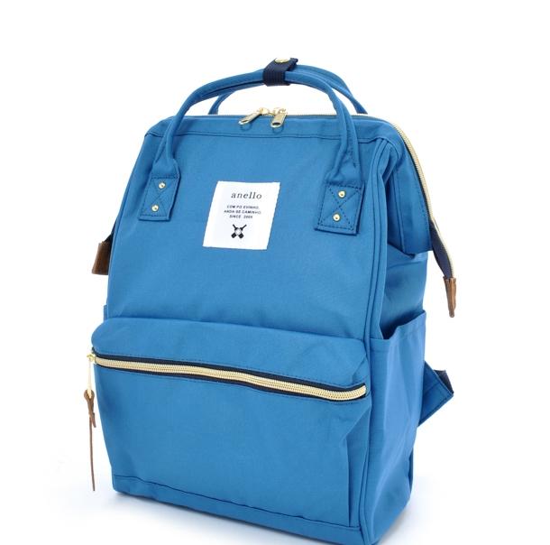 กระเป๋าเป้ Anello canvas blue (Mini)