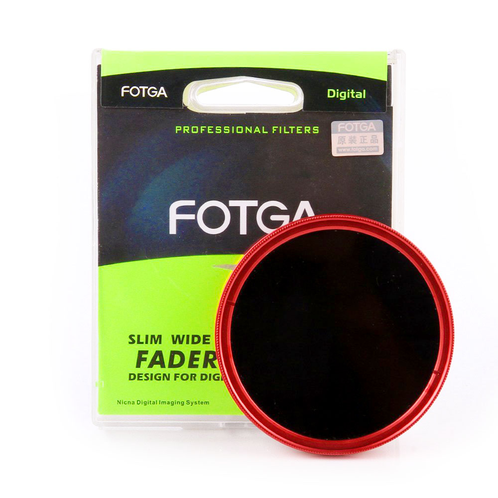 Filter 82 mm FOTGA Slim Fader ND2 to ND400 - Red Ring