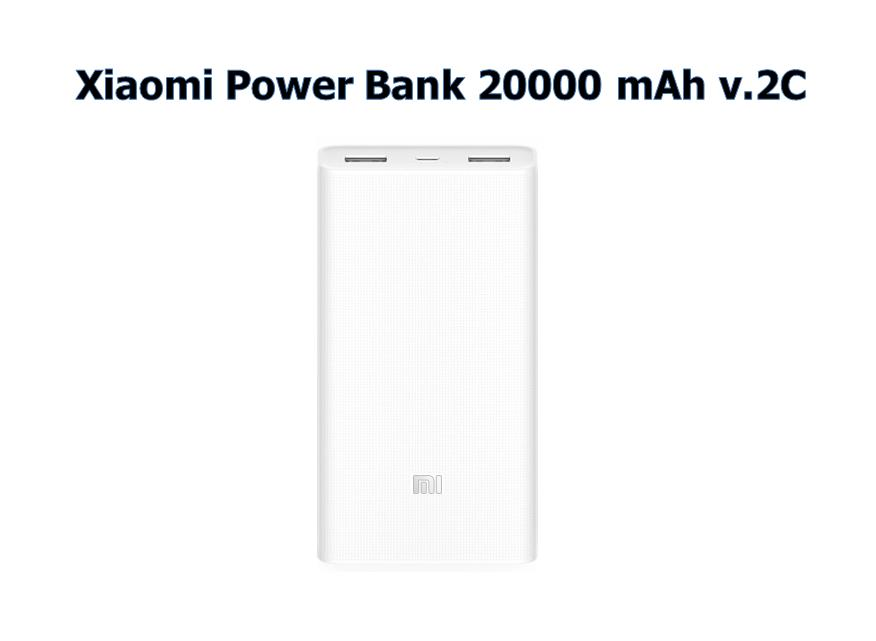 Original Xiaomi Power bank 20000 mAh v.2C