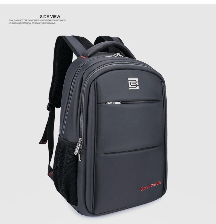 กระเป๋าสะพาย Bruno Cavalli (สีเทาเข้ม) ใส่ Notebook