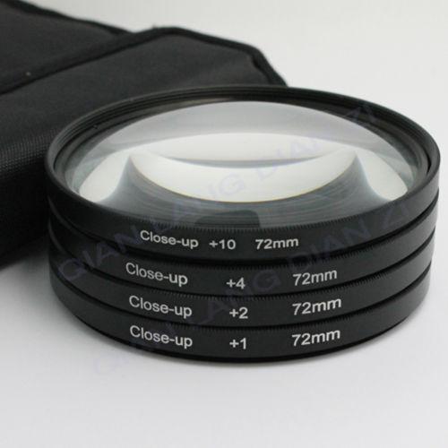 Filter Close UP +1 +2 +4 +10 Set 72 mm