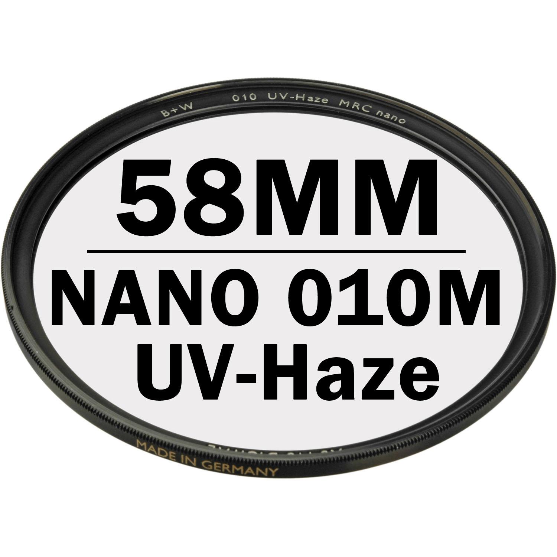 B+W 58 mm XS PRO UV Haze 010M MRC NANO Digital Filter