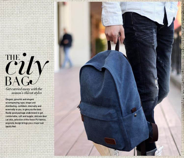 กระเป๋าเป้ Canvas Deep Color คุณภาพดี มี 4 สี