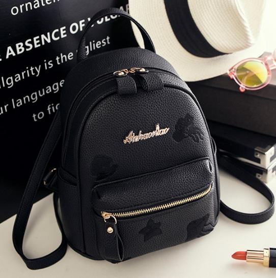 กระเป๋าเป้ผู้หญิง Flora bag สีดำ