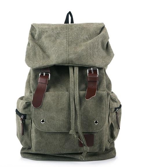กระเป๋าเป้ Canvas Daypack สีกากี