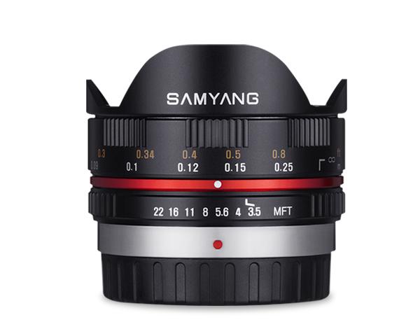 Samyang 7.5mm f/3.5 UMC Fisheye Lens FOR m4/3 - Black