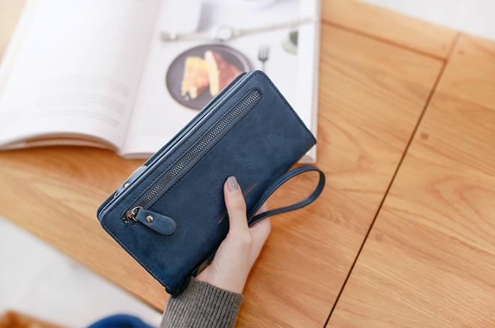 กระเป๋าสตางค์ผู้หญิง Crustal สี Deep blue