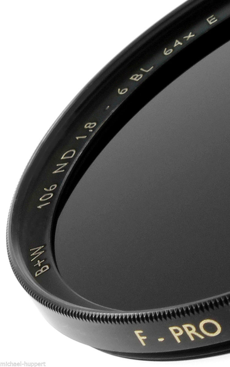 B+W 58 mm 1.8 ND 106 F-pro Neutral Density ND64x SC Single Coated Filter