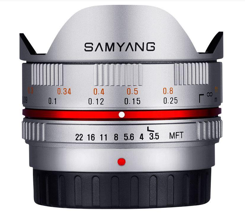 Samyang 7.5mm f/3.5 UMC Fisheye Lens FOR m4/3 - Silver