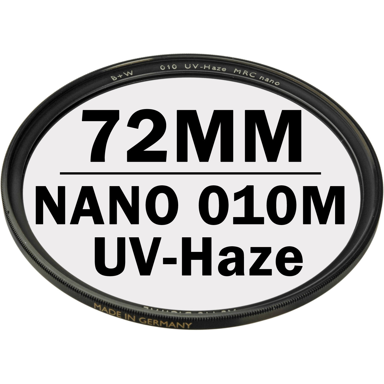 B+W 72 mm XS PRO UV Haze 010M MRC NANO Digital Filter
