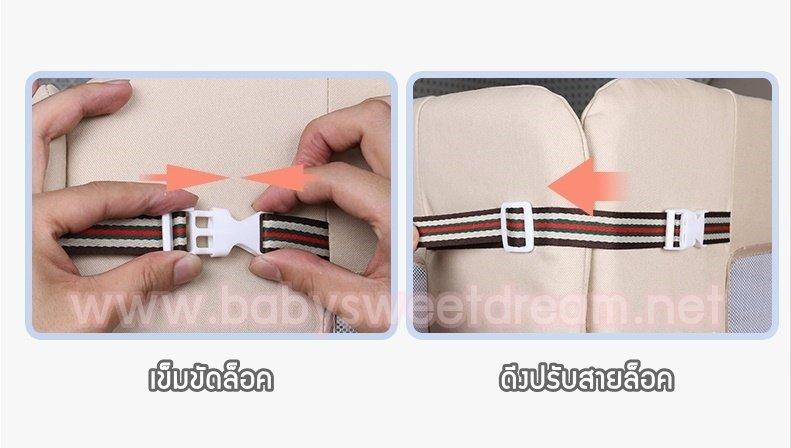 วิธีใส่เข็มขัดล็อค