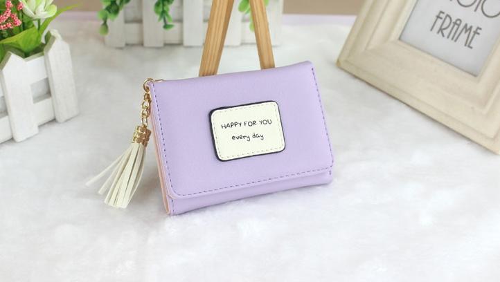 กระเป๋าสตางค์ผู้หญิง prettier สี Lavender