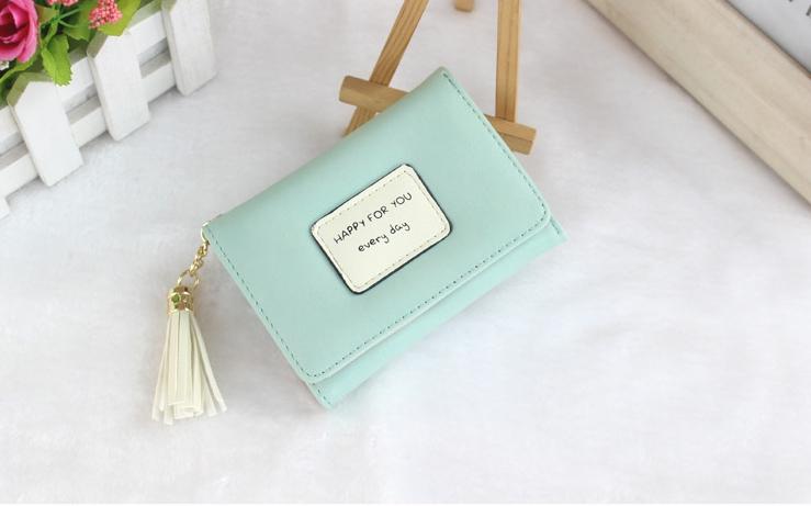 กระเป๋าสตางค์ผู้หญิง prettier สี Blue sky
