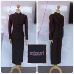 ชุดไทย ชุดไทยจิตรลดา ชุดจิตรลดา ผ้าฝ้าย ชุดไทยสีดำ ใช้ในงานพระราชพิธีสำคัญ