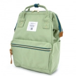 New!! กระเป๋าเป้ Anello Canvas light green Standard ผ้าโพลีเอสเตอร์แคนวาสกันน้ำ