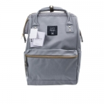 New!! กระเป๋าเป้ Anello Light Gray (Standard) สีเทาสว่าง ผ้าแคนวาส
