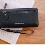กระเป๋าสตางค์ผู้หญิง Crustal สีDark black