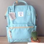 กระเป๋าเป้ Anello Canvas Sax (Standard) ผ้าโพลีเอสเตอร์แคนวาส กันน้ำ
