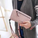 กระเป๋าสตางค์ผู้หญิง Crustal สี pure pink