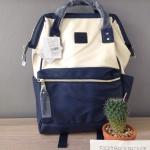 กระเป๋าเป้ Anello Leather Ivory Navy (Standard) หนัง PU กันน้ำ
