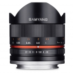 Samyang 8mm f/2.8 Asph IF MC Fisheye CS For Sony E / Fuji X - Black