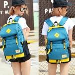 กระเป๋าเป้แฟชั่น MCJH MIKE DESIGNS (สีฟ้าเหลือง)