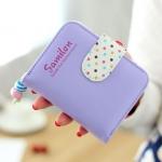 กระเป๋าสตางค์ผู้หญิง cute bag สี purple(Short)