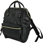 กระเป๋าเป้ Anello Leather Black (Mini)