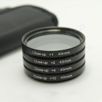 Filter Close UP +1 +2 +4 +10 Set 49 mm