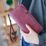 กระเป๋าสตางค์ผู้หญิง Crustal สีScarlet red