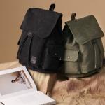 กระเป๋าเป้ Canvas vintage คุณภาพดี (สีดำ)