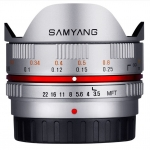 Samyang 7.5mm f/3.5 UMC Fisheye Lens FOR m4/3 - Silver